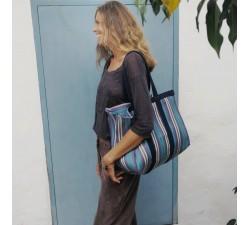 Sacs XXL Sac cabas ou sac de rangement moyen format bleu et violet Babachic by Moodywood