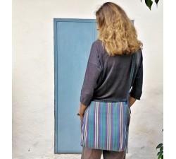 Tote bags Sacoche à longue anse bleu et violet Babachic by Moodywood