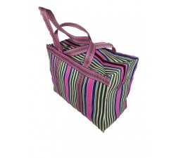 Home RP Thin Pink, white and blue - Cubic Shopping Bag Anis