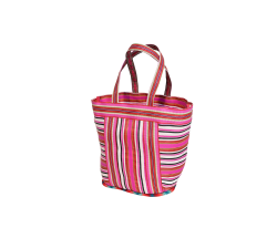 Home NEW BEACH CABAS magenta pink and white