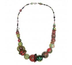Collares Collar medio largo rojo/verde -Winter nights Babachic by Moodywood