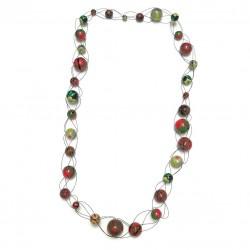 Collares Collar de malla largo rojo/verde - Winter nights Babachic by Moodywood
